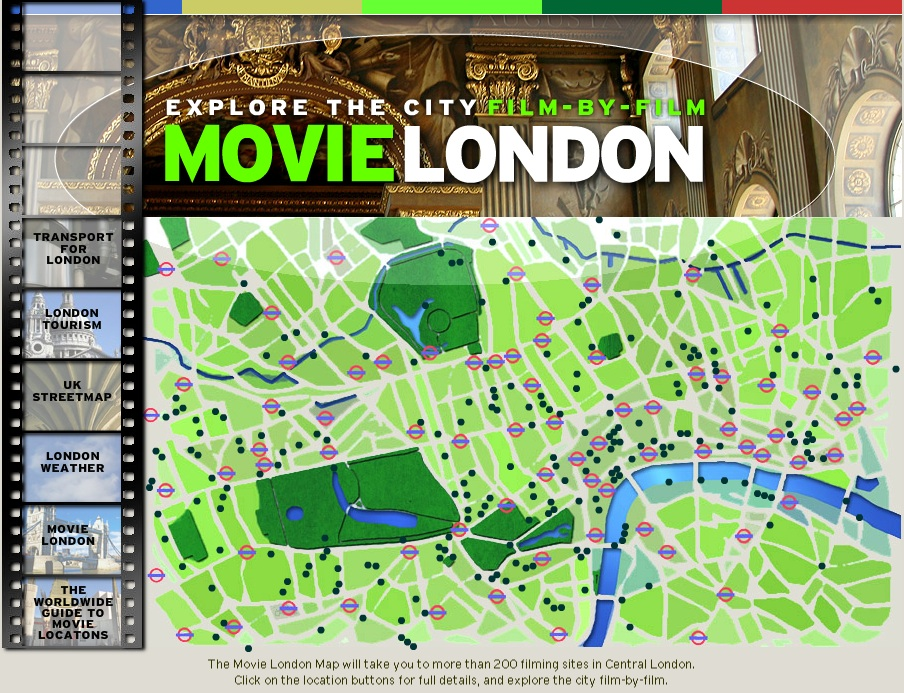 movielondon interactive map of the citys film locations